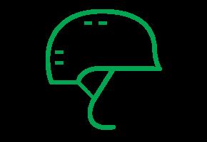 Symbol Fahrradhelm